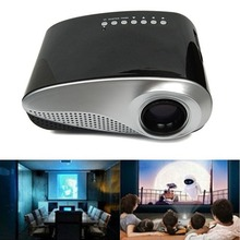 top quality HD Portable Home Theater Mini Computer HD LED Projector PC AV TV VGA USB SD HDMI free shipping