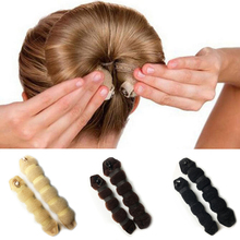 2 Pcs/Set Women Lady Fashion Hair Styling Tools Hairpin Headwear Elegant Magic Style Buns Rope Braider Hair Band Hot Sale