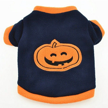 Dog Puppy T Shirts Fleece Warm Clothes Cute Dress Halloween Pumpkin Pet Clothing Pet Supplies