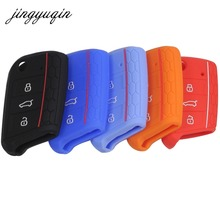 jingyuqin 20pcs/lot Silicone Key Cover For Volkswagen VW Golf 7 mk7 Skoda Octavia A7 Key Portect Case(China)