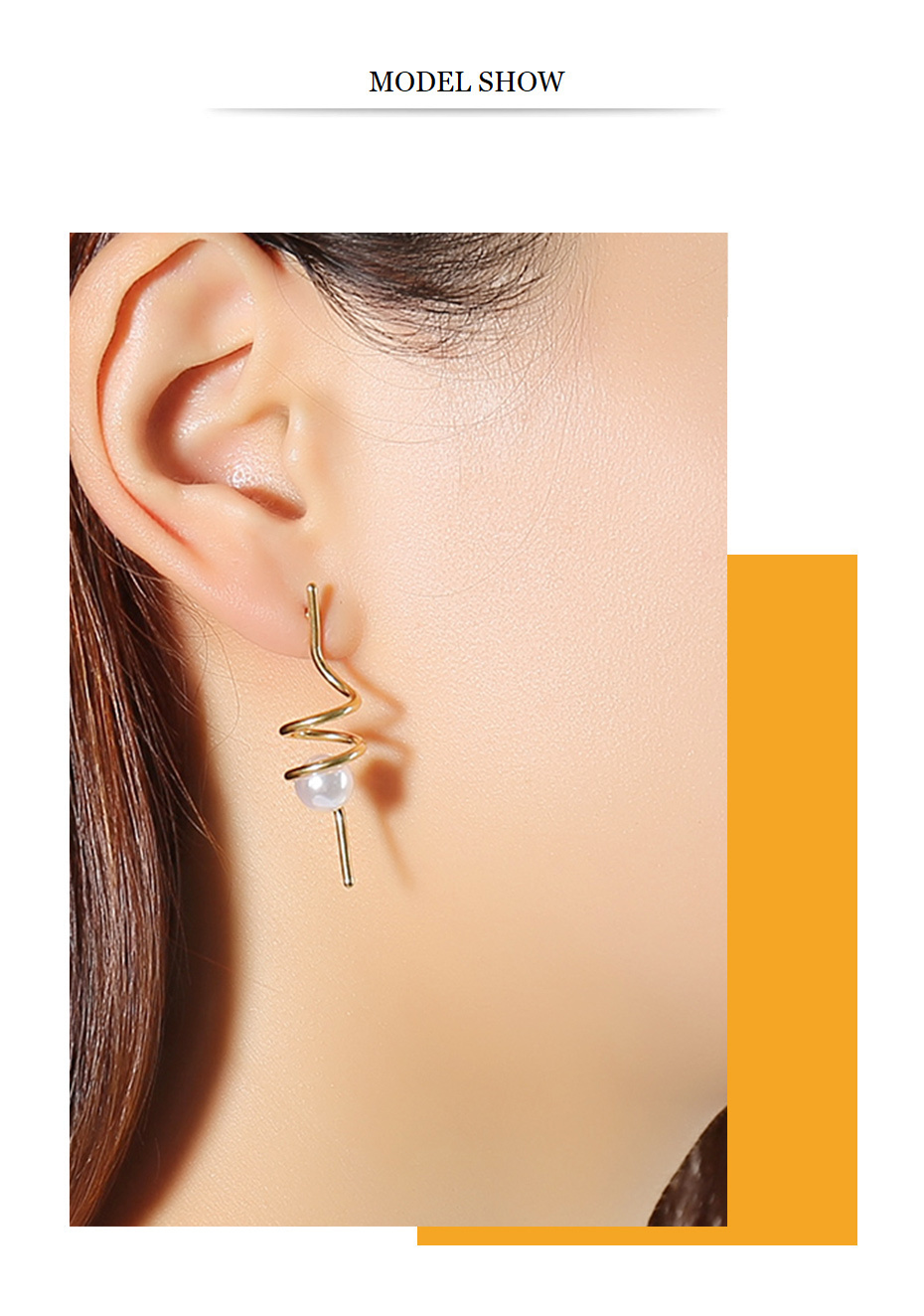 Elegant Simulated Pearl Long Earrings for Women