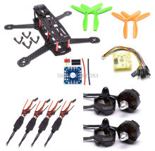 ZMR250 Carbon Fiber 250 250mm Mini Quadcopter Frame Kit W/ CC3D EVO Flight Control + 2204 2300kv 5045 Propeller for QAV250