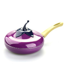Hot Sale Fruit Eggplant Frying Pan Colour Saucepan Ceramic Pan Grill Pan Cast Aluminum Cookware Gas Grill Pan