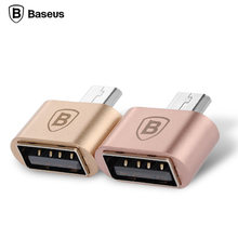 Baseus Mini Micro USB OTG Adapter Male to USB2.0 Converter For Samsung Xiaomi Huawei Meizu Sony LG Android Phone USB OTG Adapter