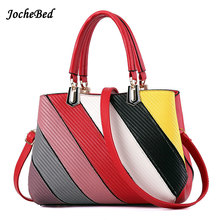 Simple Stitching Pattern Women Handbags High Quality Large PU Shoulder Crossbody Bags Handbags Of Famous Brands Kabelky Name Bag(China)
