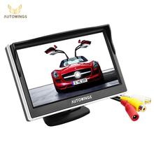 5.0 Inch Car Monitor TFT LCD 800*480 Color 16:9 Screen 2 Way Video Input For Rear View Backup Reverse Camera DVD VCD DC 12V