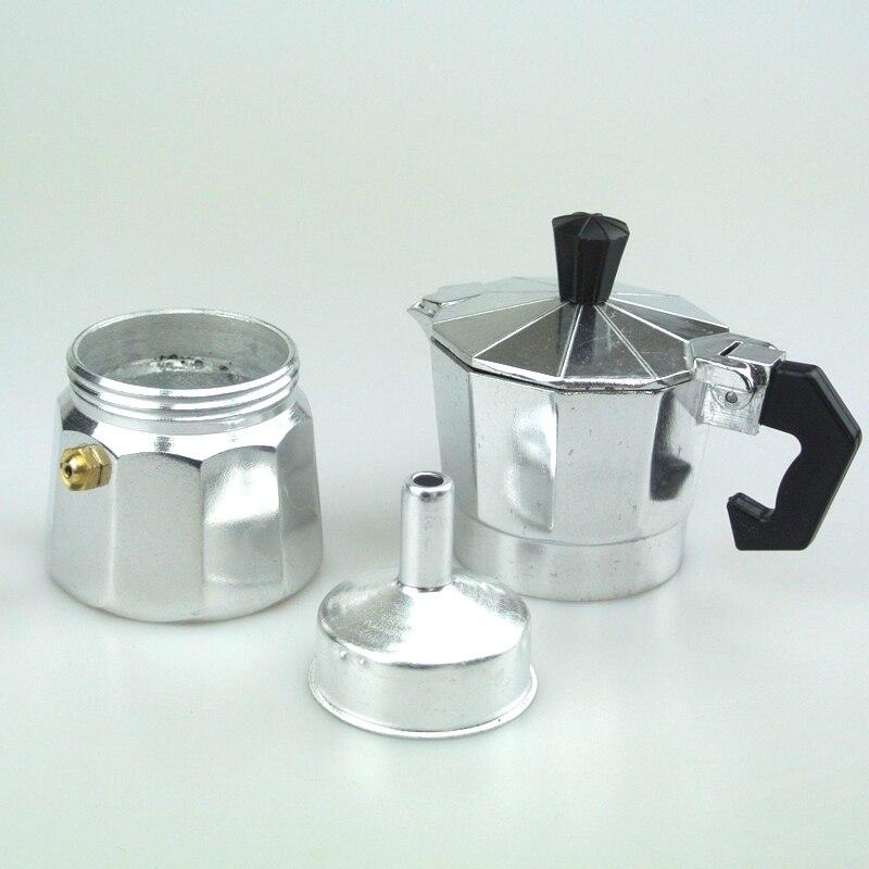 1 PC Free Shipping 1cup   Aluminum Moka Pot Coffee Maker 1Cup Counted Mocha Pot  Espresso Coffee Maker<br><br>Aliexpress