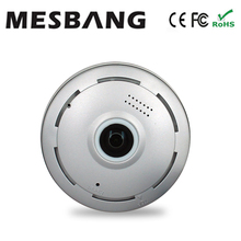 Cheap 960P fisheye 360 full view wireless wifi IP camera  plug and play  support 128G TF card  free shipment