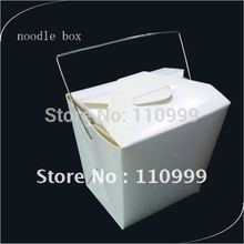 16oz Noodle Box with Wire Handle 100PCS/LOT take away food box 16oz
