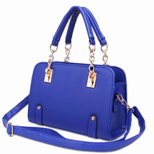 Promotion 15% Discount PU Leather Ladies Hand Bags Women PU Leather Handbag Shoulder Bag Hign Quality Designer Luxury Brand Bag(China)