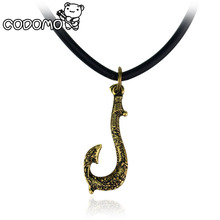 Moana Maui fishing hook Necklace action figure toys 2017 New Maui weapon Hook cosplay model Oyuncak for kids party supply gift(China)