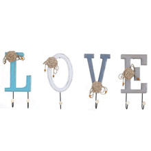creative american country wooden love letter wall decoration hook home clothing shop wall decorations coat hooks mural