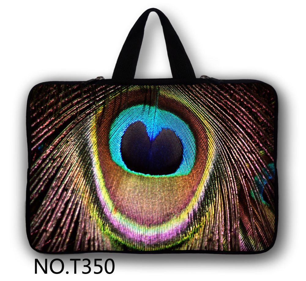 Peacock Feather Notebook sleeve case 12 13 13.3 14 15 15.6 17 for asus laptop sleeve samsung Tab P8510 ATIV Smart PC(China (Mainland))