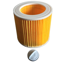 Vacuum Cleaner Parts Replacement For Karcher Wet & Dry Vacuum Hoover Cleaners Cartridge Filter with Cap Cleaner Parts