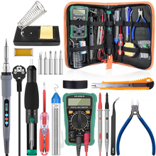 Soldering-Iron-Kit Pump-Cutter Temperature Digital-Multimeter Adjustable 110/220V 60W/90W