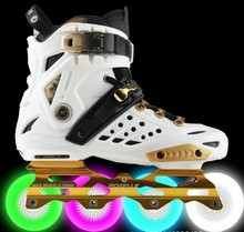 Unisex sneakers women & men Skate Shoes single ow skates adult fancy lighted roller skates space aluminum alloy classic new 2017
