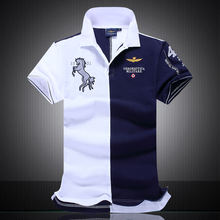 New 2016 Top Quality embroidery men's brand clothing Men Shirts Brand polo homme diamond Fashion aeronautica militare clothing