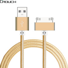 Buy USB Cable Fast Charger iphone 4 4s iPad 2 3 Metal Nylon Braided 4 30 Pin Charge adapter Cable Charging Data Sync Apple for $1.69 in AliExpress store