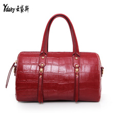 Manufacturers selling stone grain female handbag women Boston bag Fashion Designer shoulder bag handbag purse(China)