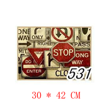 NO.531,Traffic sign Slogan/Famous design view/kraft paper/Wall stickers/Retro Bar Poster/decorative painting30x42cm(China)