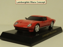 kyosho 1:64 Miura Concept Diecast car model (red)