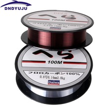 DNDYUJU 2PCS 100M RU Fishing Line Strong Fluorocarbon Fishing Lines Monofilament Nylon Freshwater Saltwater Sink Fish line(China)