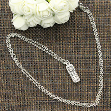 99Cents New Fashion Necklace cellphone mobile 27*8mm Silver Pendants Short Long Women Men Colar Gift Jewelry Choker(China)