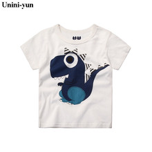 Unini-yun New babyKids Girls Tshirt Child Clothing Childrens Tops Summer Clothes Short Sleeve Tee blouse shirts Cartoon tee