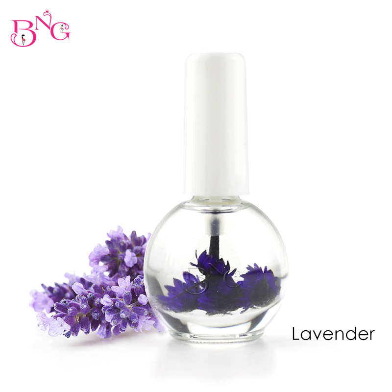 BNG 1pc 14ml Dry Flower Nourishment Oil Nail Cuticle Processing Tools Nutritional Nail Oil UV Gel Nail Treatment Lacquer 15