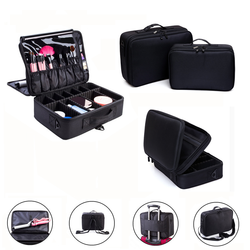 Makeup Bag Makeup Box Multilayer Cosmetic Bag Waterproof Oxford Professional Cosmetic Case Makeup Organizer Travel Pouch Bags<br>