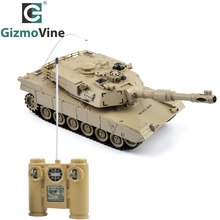 GizmoVine RC Tank RC Battle Tank 27Mhz Super Remote Control 1:18 Flashing Musical Tank 6Channers Best Gift for Children Kid Toys(China)