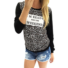 Scolour Blusas Femininas 2016 Fashion Leopard Print Long Sleeve Casual Loose Shirt Women Blouse Tops Clothing(China)