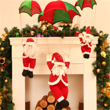 NEW Christmas Parachute Santa Claus Christmas Drop Decoration Skydiving Santa Claus Christmas Tree Home Market Ornament CKG140(China)