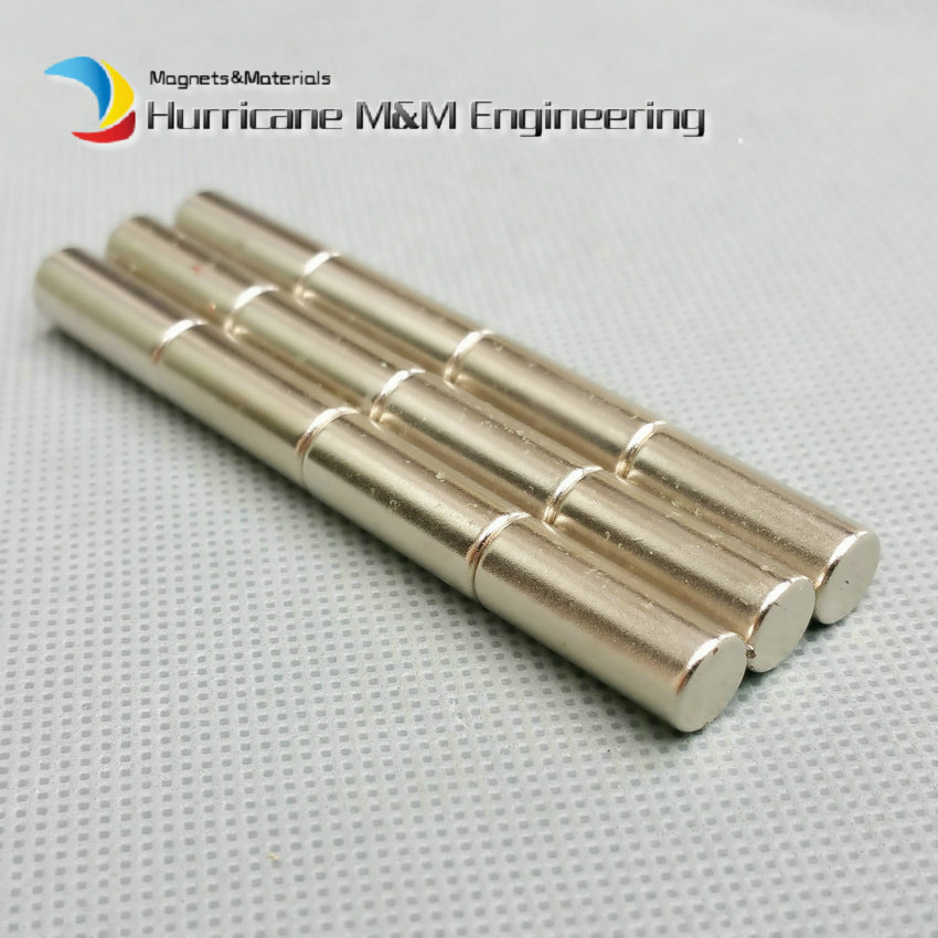 1 pack NdFeB Magnet N38UH Cylinder Dia 8x20 mm Rod High Temperature Strong Neodymium Magnets Rare Earth Permanent Lab Magnets<br>