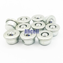 10pcs 8mm ball pressed metal 5kg load weight mini Ball transfer unit CY-8H small miniature ball roller robot toy bearing caster(China)