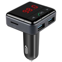 Car MP3 Audio Player Bluetooth FM Transmitter Wireless FM Modulator Car Kit HandsFree LCD Display Double USB Car-charger styling
