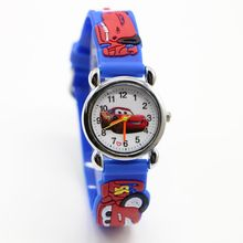 1pcs NEW Cartoon 3D cars Children Watch Good Gift kids watch kids girls fashion wristwatch
