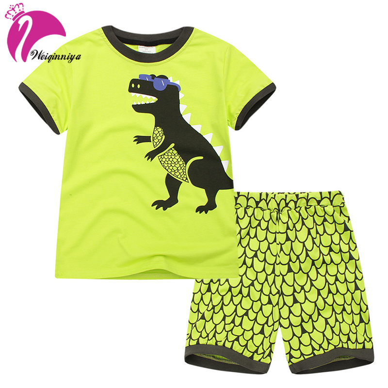 Boys Set Cartoon Pattern Tracksuits For Boys Short Sleeve Shorts+Pants 2PCs Sets Casual Kids Sport Suits Summer Baby Boy Clothes<br>