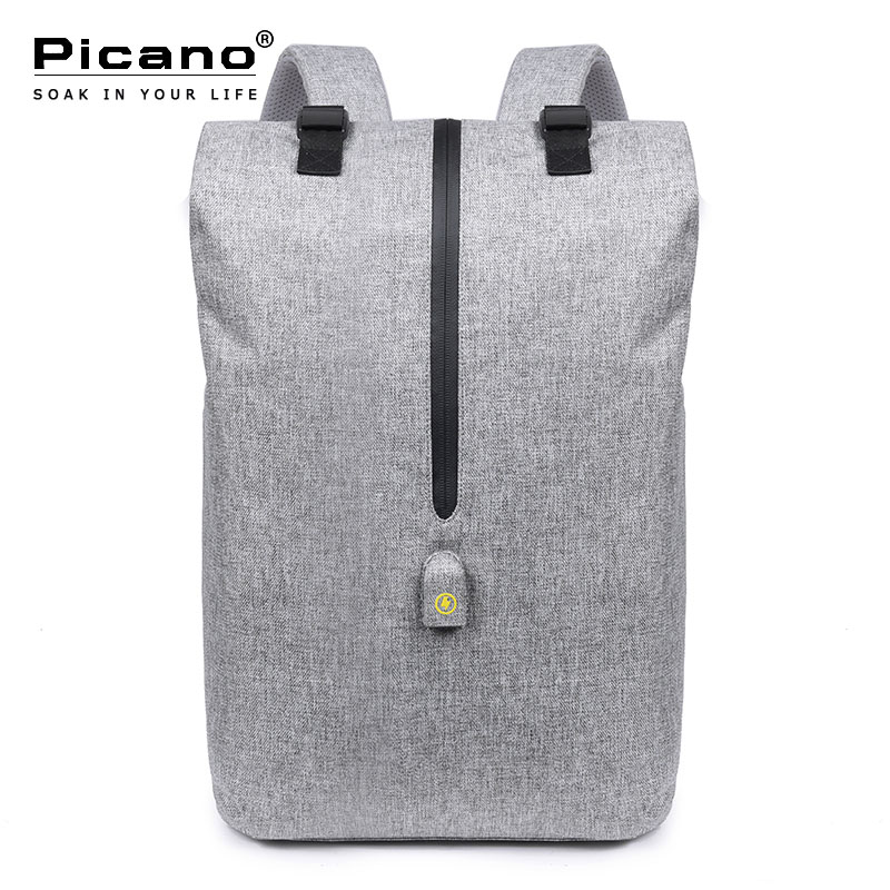 Picano Men Leisure 15.6 Inch Laptop Business Backpack Smart Usb Anti-theft Travel Backpack College Schoolbag Rucksack PCN024<br>