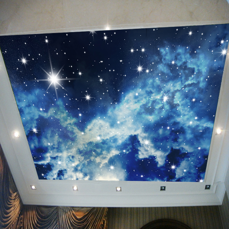 Beibehang Parede Para Quarto Em 3d Large Bedroom Wall Ceiling Frescoed  Ceilings Night Sky Night Stars Part 57