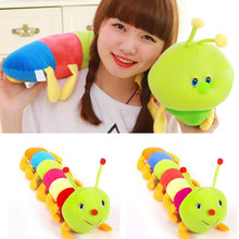 1 Piece 50CM Colorful Caterpillars Millennium Bug Doll Plush Toys Baby Kids Large Caterpillar Hold Pillow Doll 88 YH-17(China)