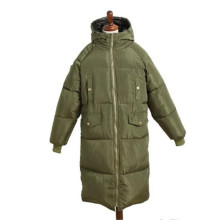 Star Same model Winter Down Cotton-padded Jacket Women 2017 Korea Pure Color Loose Big Yards Thickening Medium Long Coat BH031(China)
