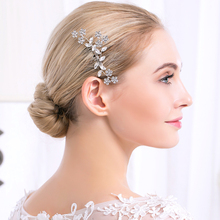 new wholesale cheap sale simple rhinestone classic women hair combs fashion elegant bridal hair accesory(China)