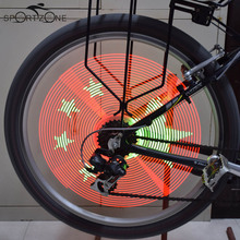 Intelligent 192LED Cycling Light Video Picture gif Bike Wheel Spoke Lights Waterproof Colorful Changing Bicycle DIY Programmable