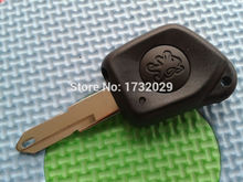 Pusakieyy 1pcs of New Case For Peugeot 106 205 206 306 405 406 1 button Remote Key Fob case shell keyless with uncut key blade