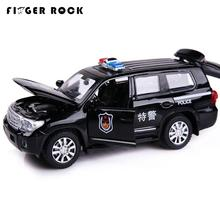 1:32 Land Cruiser Police Model Car Diecast Metal Pull Back Auto Toy 2 Color Simulation Alloy Car Birthday Gift for Children(China)