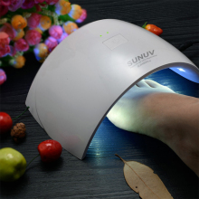 Modelones  SUN9c Plus 36W UV LED Nail lamp 18 LEDs Nail dryer for All Gels with 30s/60s button Perfect Thumb Solution