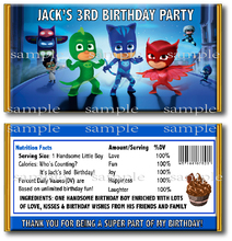 6 pcs PJ Mask Birthday Candy Bar Wrapper Video Game Custom Chocolate Wrappers Baby Shower Birthday party decoration supplier