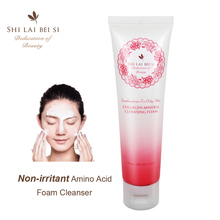 Natural mild Mineral Amino acid deep Cleansing Foam wash, face pore cleaner, anti acne, pimple, blackhead facial skin cleanser(China)