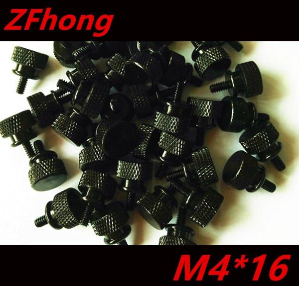 20pcs M4*16 M4 x 16mm black aluminum step hand screw computer case screw<br><br>Aliexpress